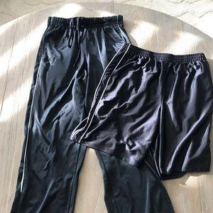 Men's Training Sweat Pants And Shorts Size Medium